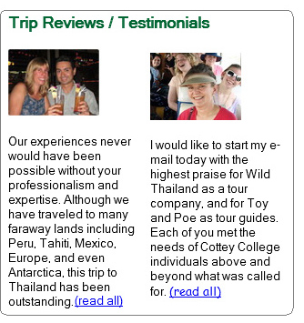 wildthailand trip reviews