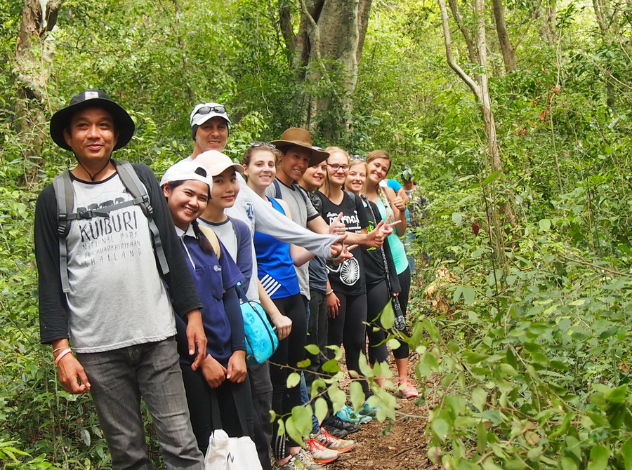 student tours hiking