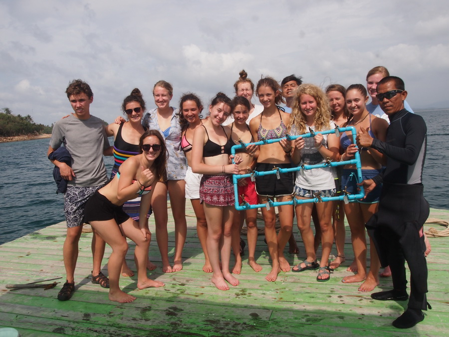 student volunteer trip thailand coral planting